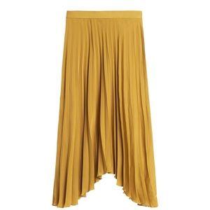 Banana Republic Pleated High-Low Skirt